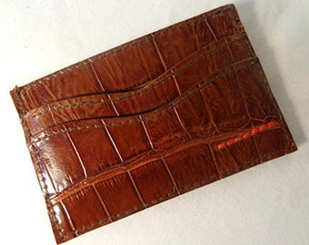 Custom Made Alligator Credit Card Holder