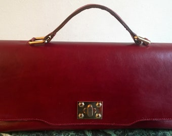 Jovana Long Top And Red Shoulder Bag ( Soft Cowhide )