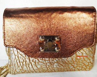 Karen Mini Size Copper Cross Body Bag