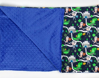 FREE PERSONALIZATION Boy Knights Theme Crib Size Blanket, Baby or Toddler Minky Dot Blanket, Trendy gifts for baby