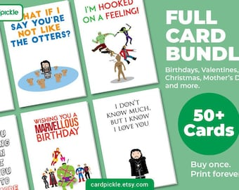 Full Card Bundle - Complete Collection of 50+ Cards Plus Freebies - DOWNLOAD Printable Cards