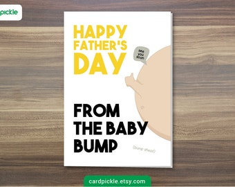 DOWNLOAD Printable Card - Father's Day Card - Baby Bump - Funny Card - Happy Father's Day