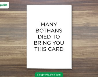 DOWNLOAD Printable Card - I Love You Card - Star Wars Card - Many Bothans Died to Bring You This Card - Birthday - Anniversary - Valentines