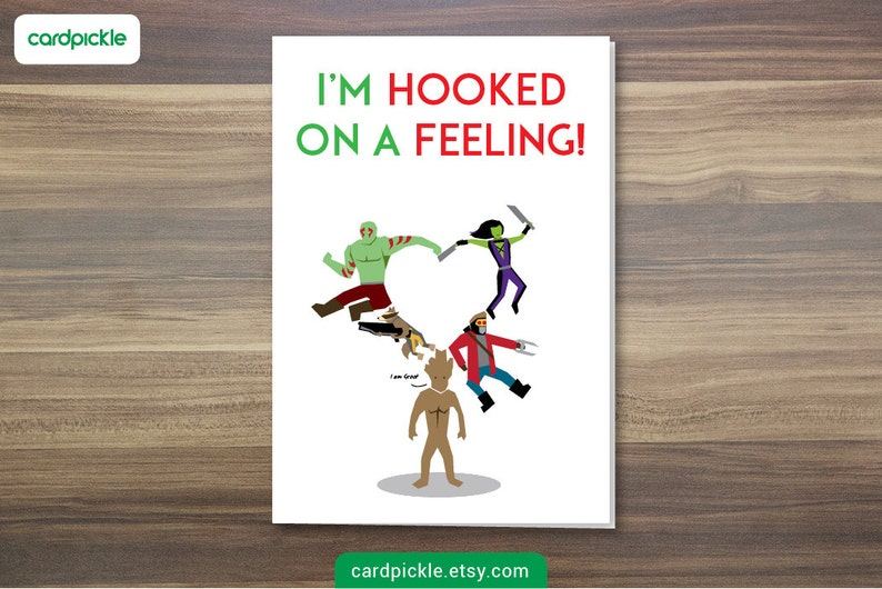 DOWNLOAD Printable Card  I Love You Card  Guardians of The image 0