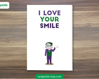 DOWNLOAD Printable Card - I Love You Card - The Joker - Happy Birthday - Happy Anniversary - Valentines Card