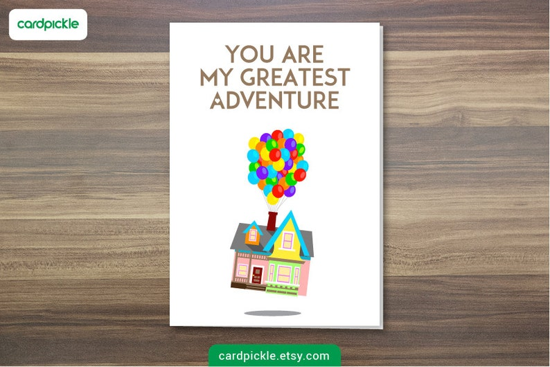 DOWNLOAD Printable Card  I Love You Card  UP Card  Happy image 0