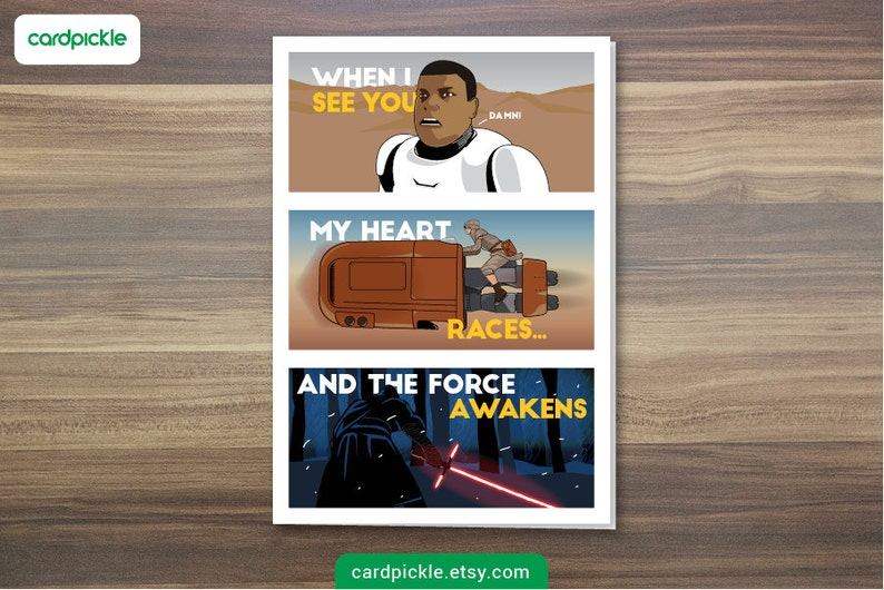 DOWNLOAD Printable Card  I Love You Card  Star Wars Card  image 0