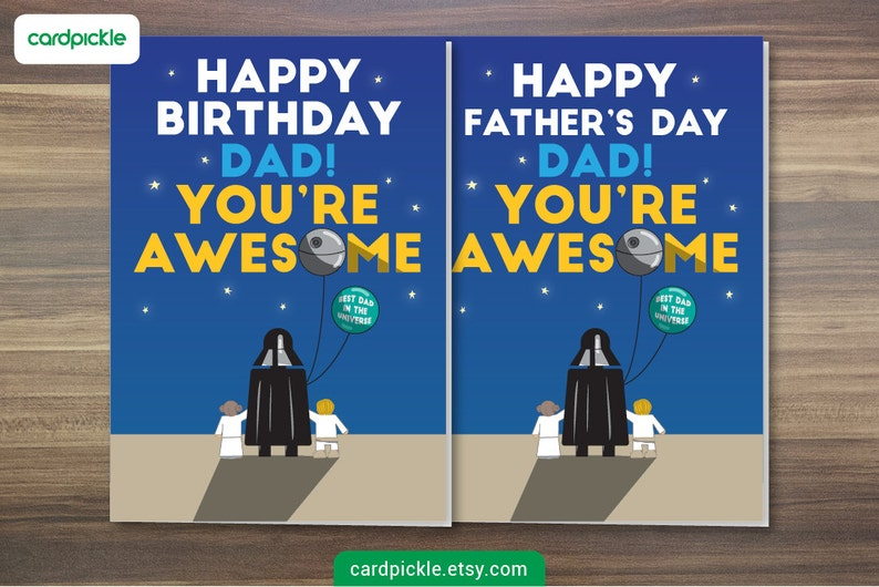 DOWNLOAD Printable Card  Happy Birthday Card or Happy Fathers image 0