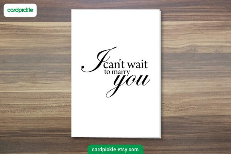 DOWNLOAD Printable Card  Wedding Card  I Love You Card  image 0