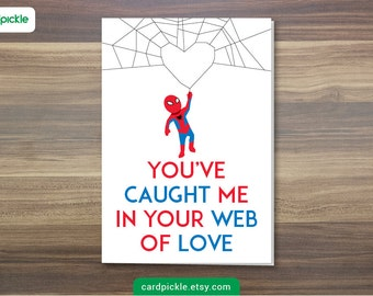 DOWNLOAD Printable Card - I Love You Card - SpiderMan Card - Happy Birthday - Happy Anniversary - Valentines Card