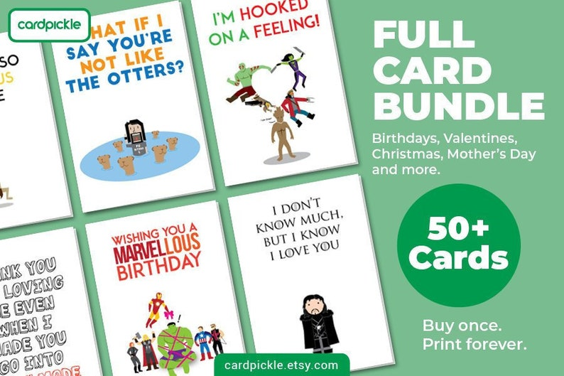 Full Card Bundle  Complete Collection of 50 Cards Plus image 0