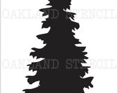 Christmas Pine Tree 1 STENCIL 7 Sizes to Choose From for Painting Signs Wood Fabric Canvas Holiday Evergreen Scrapbook Airbrush Crafts