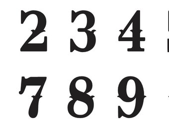 Western Number STENCIL 3 Oklahoma Font Numbers 0 9 For Painting Signs Fabric Wood Canvas Airbrush Crafts Mailboxes House