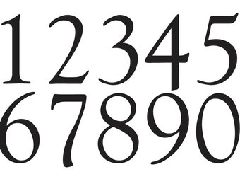 Number STENCIL 4 Goudy Old Style Font Numbers 0 9 For Painting Signs Fabric Wood Canvas Airbrush Crafts Mailboxes House