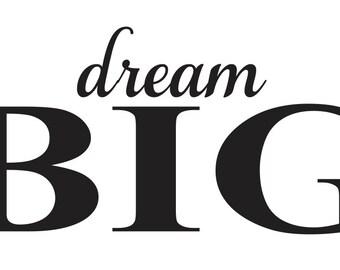 Stencil Shabby Chic Da Stampare.Dream Big Stencil Etsy