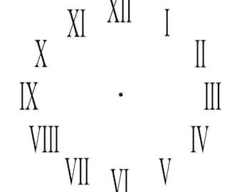 Roman numeral clock etsy thecheapjerseys Gallery
