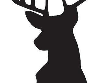 Crafty image inside deer stencil printable