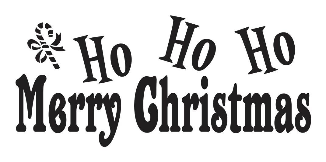 Primitive Christmas/Holiday STENCILHo Ho Ho Merry   Etsy