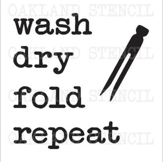 w sche schablone waschen trocken falten wiederholen 12 etsy. Black Bedroom Furniture Sets. Home Design Ideas