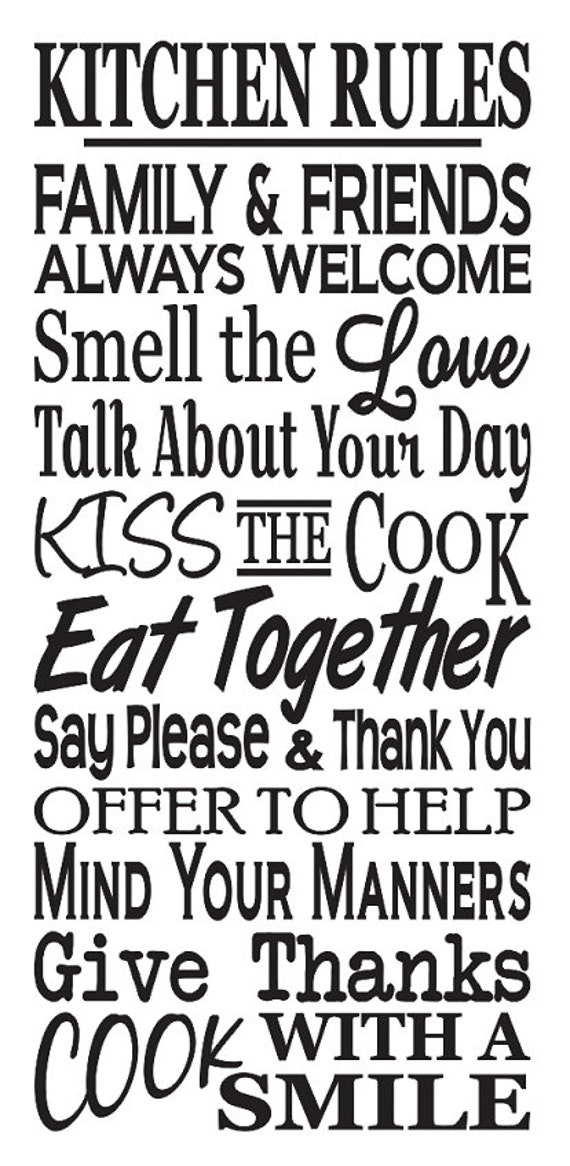 Cucina STENCIL * * cucina regole * * grande 12 \