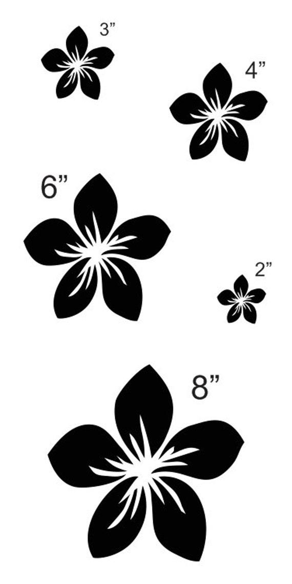 Plumeria Blumen Schablone Blatt mit 5 insgesamt Größen | Etsy