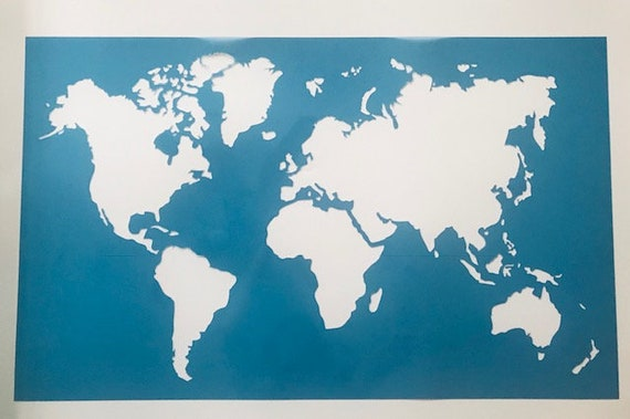 World Map STENCIL 5 Sizes 6\