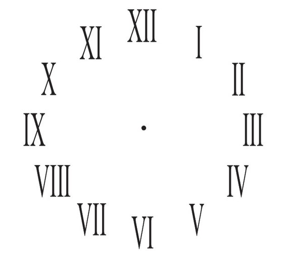 Clock STENCIL**Roman Numerals Clock 7 sizes for Painting/Making your own  clock Signs Wall Wood Tables Canvas Fabric Airbrush Crafts