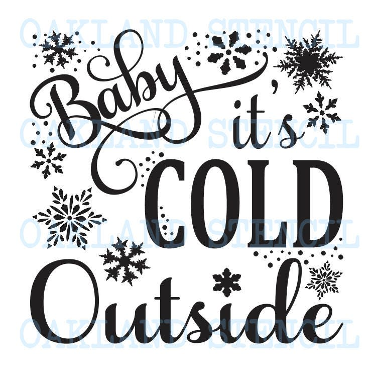 Baby es ist kalt außen Schablone 6 Größen 12 x 12   Etsy