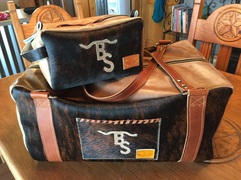 Custom Duffle and Makeup or Shaving Bag Set FREE SHIPPING