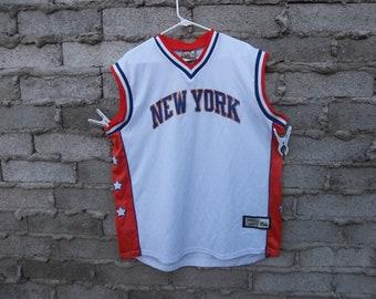 3affee03e New York Knicks Jersey Large Light Distress Basketball Madison Square Garden