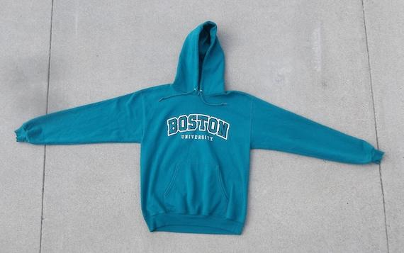 Vintage Sweatshirt Boston University Hoodies Mediu