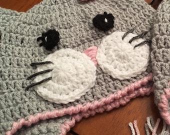 Kitten hat, Cat hat, baby hat, baby photo prop, baby cat hat, kids hat