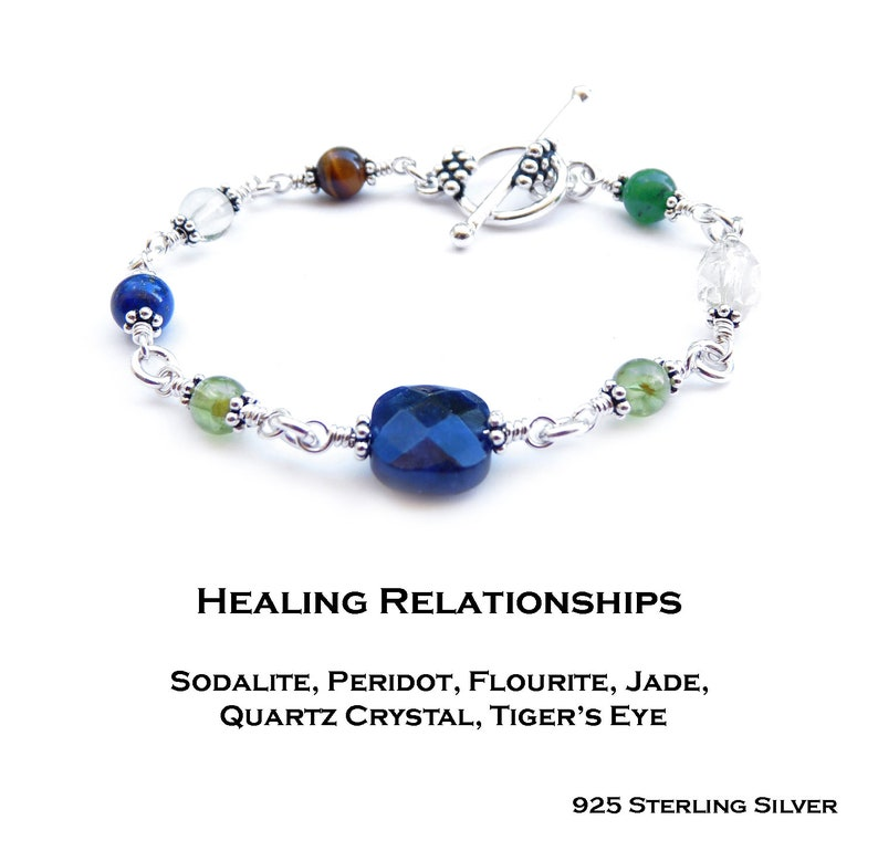 Heal from Loss Open Heart Chakra Heal the Family Couples Relationship Crystal Healing Bracelet Clear Past Wounds Increase Family Bonds