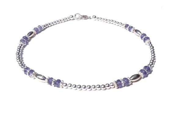 Tanzanite gemstone reiki Tanzanite beaded bracelet dainty crystal healing mala Tanzanite Tanzanite beads minimalist yoga chakra