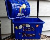 Reward box, treasure chest, school reward box, rainbow box, teacher reward box, kids toy box, toy chest, small toy box, under the sea,