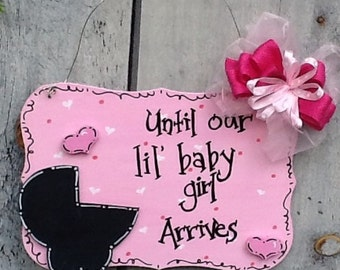 baby countdown sign, baby sign, expecting mother sign, Baby girl countdown, nursery sign, pregnancy countdown sign, baby countdown sign