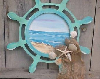 Nautical door sign, nautical door hanger, beach door hanger, summer door sign, summer door hanger, by the beach sign, ships ahoy door hanger