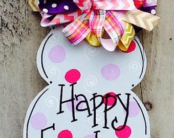 Easter bunny sign, Easter bunny door sign,  bunny sign, nursery sign, spring door hanger, spring sign, spring door sign, Easter sign