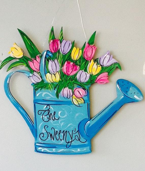 door hanger Spring flower tulip