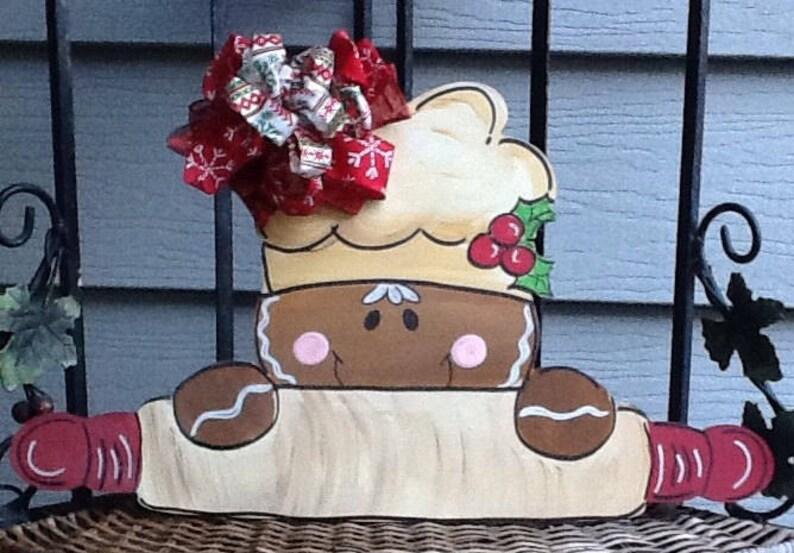 Gingerbread door sign bakers door hanger gingerbread door hanger christmas door sign holiday gingerbread sign christmas door hanger