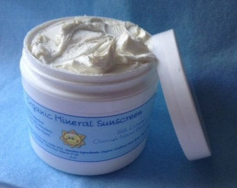 Organic Mineral Sunscreen - UVA/UVB Protection; SPF 30; Chemical Free; Water Resistant