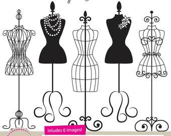 dress form clipart etsy rh etsy com Dress Form Different Sizes dress form clip art free