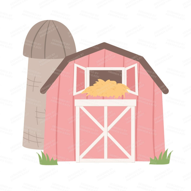 Premium Soft Pink Farm Animals Clip Art Amp Vectors Soft