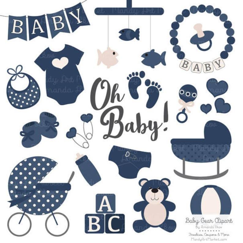 17e7c41bb322 Premium Oh Baby Clipart   Vectors Set in Navy Navy Blue Baby