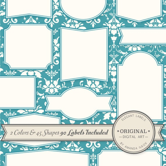 professional elegant labels vintage blue labels blue tags etsy