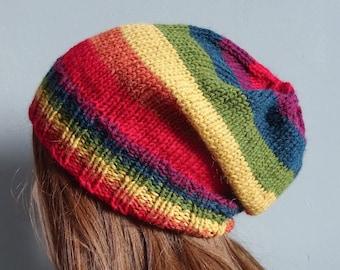 23dfe6ed6dd Rainbow Multicolour Slouchy Hat