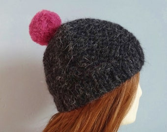 052b86d6266 Black chunky bobble hat