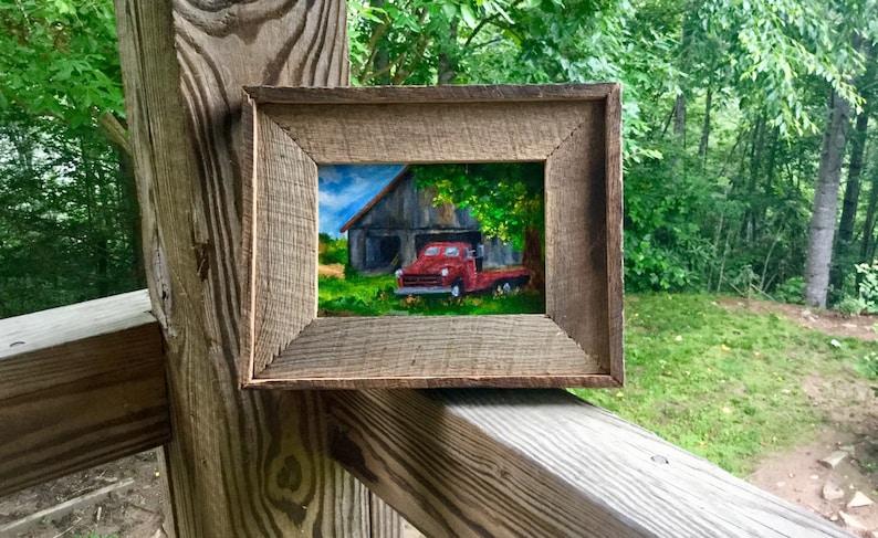 Barn, vintage truck, farm Smoky Mountains, Appalachian Mountains, Blue  Ridge Mountains, barnwood frame, truck