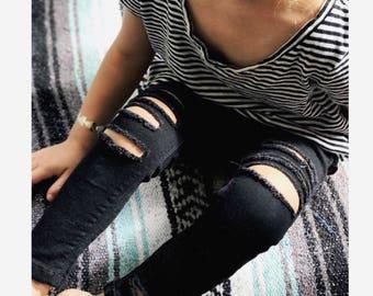 Distressed black jeans- distressed skinny jeans-toddler jeans-distressed baby jeans-jeans-ripped jeans-distressed-distressed denim-