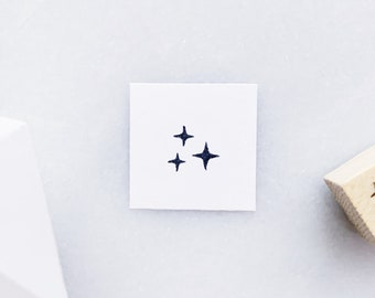 Sparkles Rubber Stamp • Small Stars Stamp • Tiny Rubber Stamps